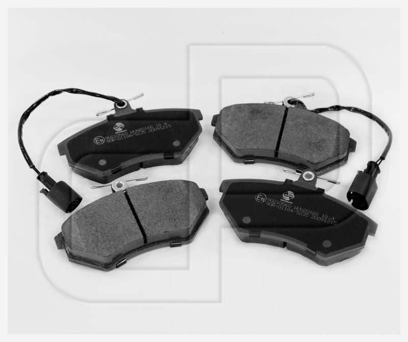 VW Bremsbeläge Bremsklötze vorneVorderachse mit E-Prüfzeichen
